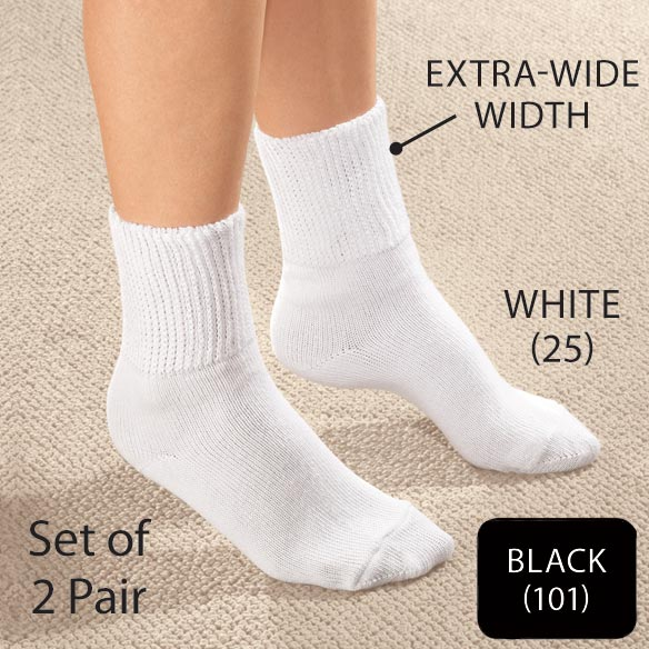 Extra-Wide Diabetic Ankle Socks - View 2