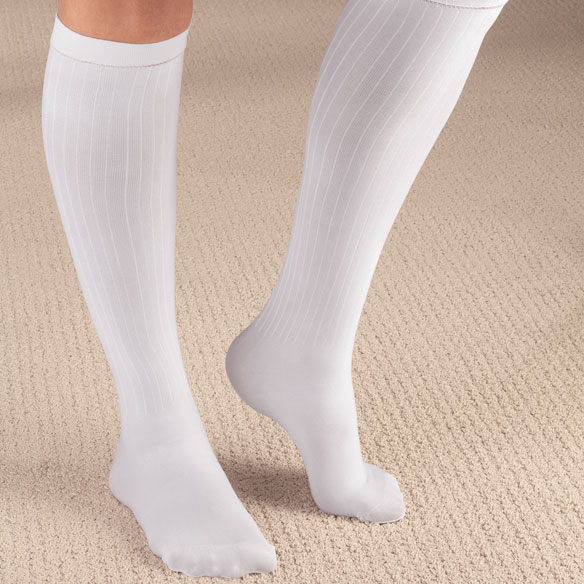 Ribbed Compression Socks - 15–20 mmHg - View 5