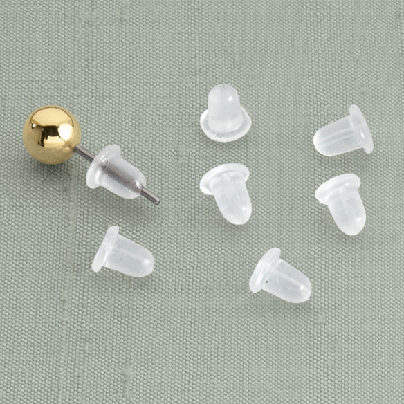 Clear Bullet Earring Backs - 6 Pairs