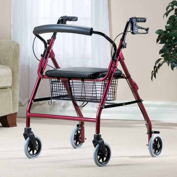 Walkabout Wide 4 Wheeled Walker - View 1