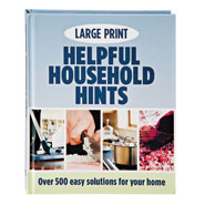 "Vision Loss - Large Print ""Helpful Household Hints"" Book"