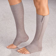 Compression Hosiery - Magnetic Zipper Compression Socks