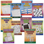 New - Large Print Puzzle Books, Set of 10